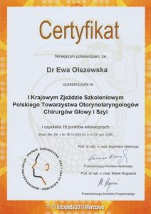 Szkolenie towarzystwa laryngologicznego Białystok