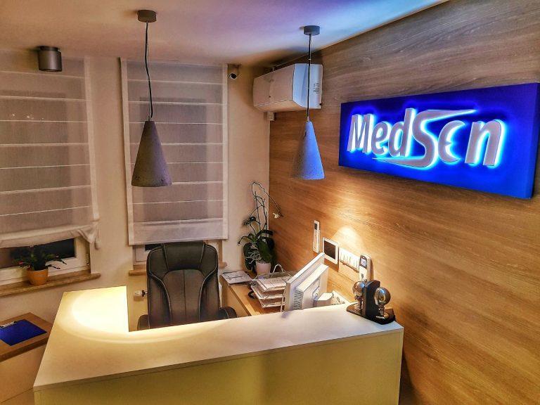 Wnętrze centrum medycznego MedSen działającego w Białymstoku