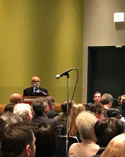Prof. Michael Friedman (USA) wygłasza swój wykład