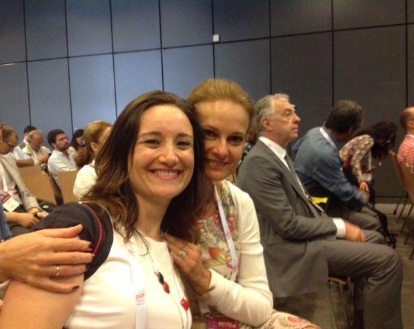 W sali wykładowej: prof. Ewa Olszewska z dr Mariną Carrasco-Llatas z Hiszpanii.